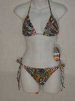 NWT Bingo designer 2 piece tie side bikini set size juniors medium
