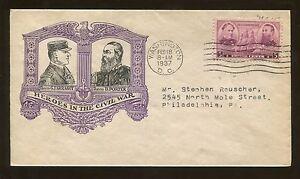 Admirals David Farragut David Porter First Day Issue Washington 1936 Stamp #792
