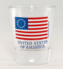 BETSY ROSS UNITED STATES of AMERICA (USA) FLAG SHOT GLASS