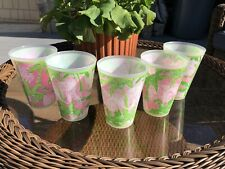 Set Of 5 Lilly Pulitzer Plastic Drink ware Cups 14 oz.