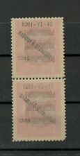 FIUME  1922. - Pair with unlisted error  - Sassone 180y  MNH**  $$$$$$$$$$$$$