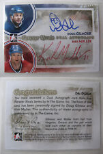 2010-11 ITG Forever Rivals Muller Gilmour dual auto SP autograph SSP canadiens
