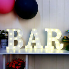 3PCS LED Alphabet Marquee BAR Sign Chic Carnival Marquee Shabby Night Light