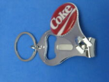 COCA COLA LOGO KEY RING NAIL CLIPPER BOTTLE OPENER #139