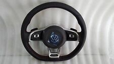 VW MK6 GLI Jetta 6 Speed Manual Steering Wheel Leather Black Stitching stich OEM