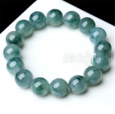 10mm 100% Natural A Grade Green Round Gemstone Beads Jade Jadeite Bracelet 7.5''