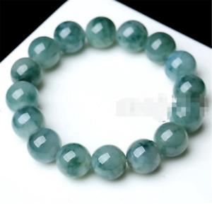 10mm 100% Natural A Grade Green Jade Jadeite Round Gemstone Beads Bracelet New