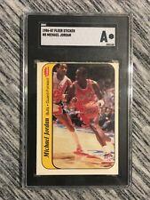Michael Jordan 1986-87 Fleer Sticker #8 MJ Rookie RC SGC Graded A Authentic