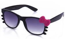 Gafas de Sol Negro Marco Brillante Arco y bigotes acentos de goma mate