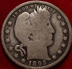 1893-O New Orleans Mint Silver Barber Quarter