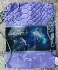Disney's MALEFICENT Sleeping Beauty Aurora Purple Subway Lunch Bag Tote Backpack