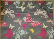 Butterfly Stall Shower Curtain Polyester Fabric Pink Blue Yellow Bright 40x83