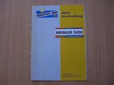 Spielbeschreibung + Betriebsanleitung Merkur 5000