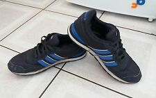 MENS ADIDAS TRAINERS. NAVY SYNTHETIC. SIZE UK 8. EUR 42.