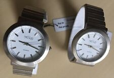 NEXUS  Women's Silver Tone White Dial Lot Of 2 Watches New Batteries