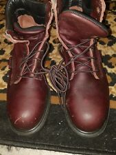 (Men's 7.5 D/ 40) RED WING Steel Safety Toe #2406 LEATHER WORK BOOTS