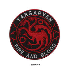 Targaryen Game Of Thrones Embroidered Iron on Patch Sew On Badge