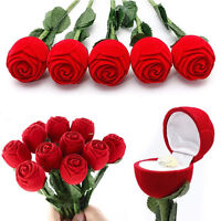 Rose Jewelry Box Ring Earring Storage Display Holder Red Gift For Girlfriend Hot