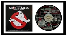 GHOSTBUSTERS - MEMORABILIA - VINYL RECORD LYRIC ART with Cover - Limited Edition
