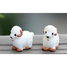 10pcs Miniature Cartoon Sheep Dollhouse Bonsai Fairy Landscape Decor