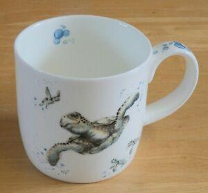 Royal Worcester Hannah Dale Wrendale Designs Turtle Mug - Swimming School