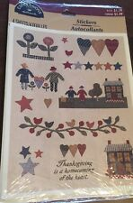5 packs Hallmark Primitive Patchwork Fall Harvest Stickers 20 sheets
