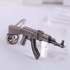 Mini Sniper Rifle Pistol AK47 Weapon Gun Model Metal Alloy Keychain Key Ring