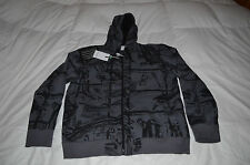 Authentic Energie Sixty Black Gray Mens Hoody Size XL