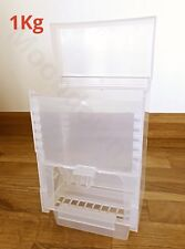 1Kg SEED HOPPER/ FEEDER LARGE PLASTIC FOR AVIARY BIRD CAGE - FINCH CANARY etc