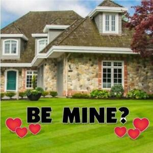 Be Mine Valentine's Day Yard Letters and Decorations 13 piece set FREE SHIPPING