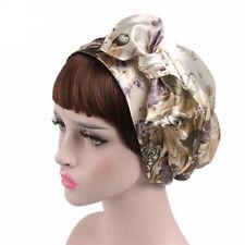Women Satin Hair Band Cap Lace Scarf Sleep Cover Turban Chemo Head Wrap Hijab