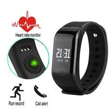Neu F1 Smart Watch Armband Uhr Pulsuhr Schlaf Fitness Tracker Bluetooth 4.0 DE