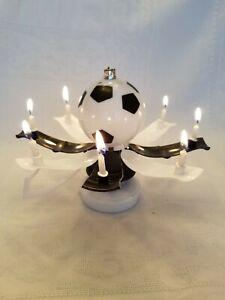 "MAGICAL BIRTHDAY CANDLE TROPHY SOCCER BALL Black & White""  Buy form USA Distribu"