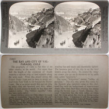 Keystone Stereoview The Bay & City of Valparaiso, CHILE From 1200 Card Set #130