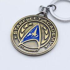 Keychain / Porte-clés - Star Trek Logo Metal Gold Bronze