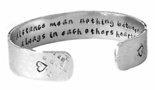 Sister Gift - Time and Distance Mean Nothing Between Sisters Secret Message Cuff