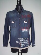 CAMICIA  D&G  IN DENIM CON SCRITTE  COLORATE  EFINITURE IN CORDURA TG L