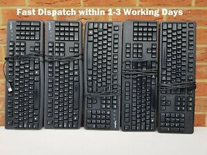 Keyboards, Lot of 5 USB keyboards. USB Wired Corded Dell and Logitech Keyboards