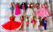 Bundle Big Lot Vintage Dressed Barbie Dolls (12) Mattel