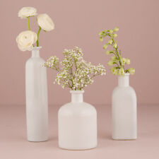 White Glass Bottle Decor Set Vintage Wedding Decor Weddingstar