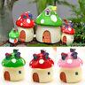 Hot Sale Resin Craft Mushroom House Garden Ornament Plant Pot Fairy Garden