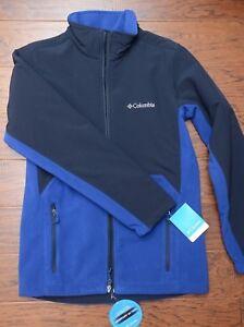 Columbia $140 Men's Lookout Trail Full Zip Heavy Fleece Blue Jacket S