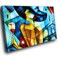 E086 Colourful Abstract Woman Retro Modern Canvas Wall Art Large Picture Prints