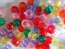 100 Transparent Pony Beads