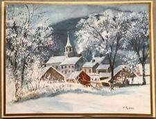 FINE Tasha Tudor Vintage Irene Dash Co Christmas Refurbished Card Country Town 4