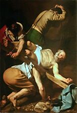 "nice oil painting handpainted on canvas""an old man nailed to the cross"" NO1795"