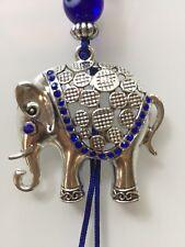 Blue Evil Eye Lucky Elephant  Keychain Keyring Key
