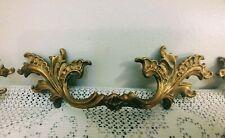 Lot of 4 Antique Vtg Ornate Drawer Pulls Furniture Brass Handles