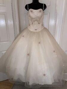 MORILee By Madeline Gardner Stunning Ivory Wedding Dress Size 12