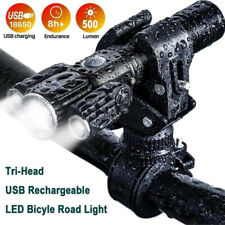 LED Bicycle Headlight Mountain Bike Front Lamp Rear light Rechargeable